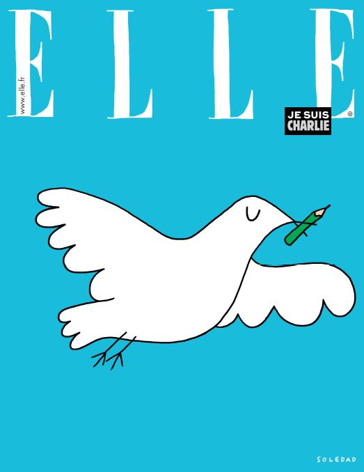The ELLE France's tribute to CharlieHebdo