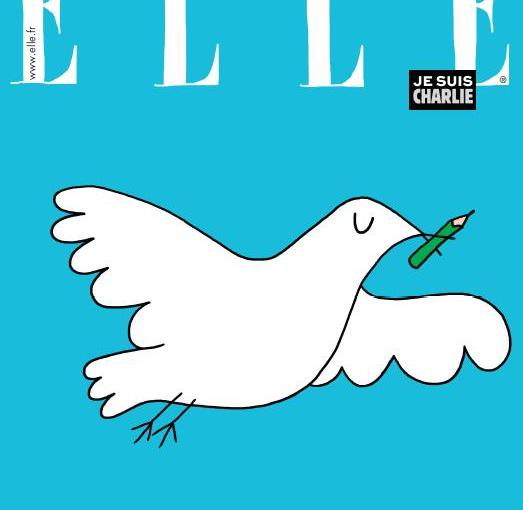 The ELLE France's tribute to Charlie Hebdo
