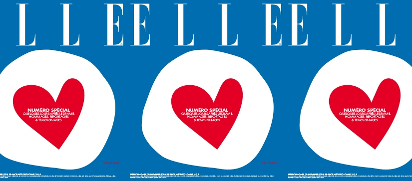 ELLE France's Special issue, following the Parisattacks